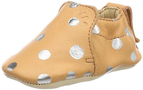 Easy PeasyBlumoo Pois - patucos y zapatillas de estar por casa Bebé-Niños Orange (peche/silver)