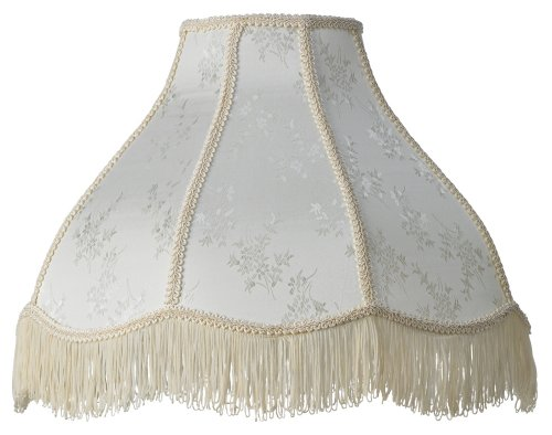 Cream-Scallop-Dome-Lamp-Shade-6x17x12x11-Spider