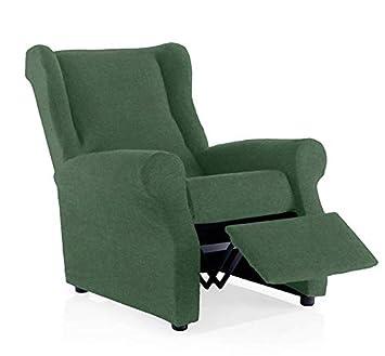 Funda de sillón relax Minerva Tamaño 1 plaza, tamaño estandar Color Verde (varios colores disponibles)