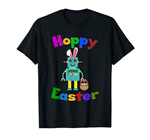 Hoppy Easter Robot T-Shirt Funny Egg Hunt Outfit