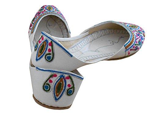 handgefertigte UK 5 Damenschuhe indische Mojaries Juti Creations Designer Kalra 3 Ballet Traditionelle Flat CwtvRxq