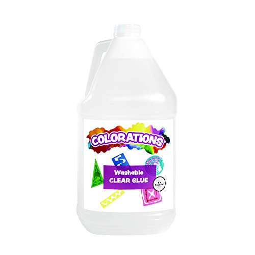 Colorations Washable Clear Glue, Gallon (Item # NGL)