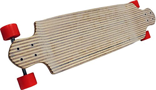 Zebra竹Longboard 180 mm Trucksスケートボード70 mmホイールドロップダウンダウン B01ND41SQQ