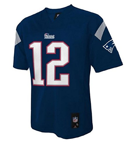 Tom Brady New England Patriots #12 NFL Youth Mid-tier Jersey Navy – DiZiSports Store