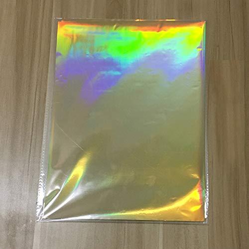 - 50Pcs 20x29cm Glitter Paper for Hot Foil Stamping Paper - Paper Laminator Laminating Transfer Paper-Elegance Laser Printer Craft Paper - Foil Paper for Slime-Paper for Crafting (LaserGold)