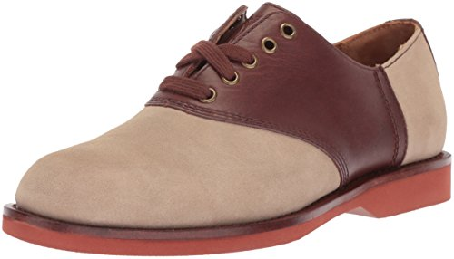 Polo Ralph Lauren Men's Orval Oxford, Milkshake/Brown, 9.5 D US