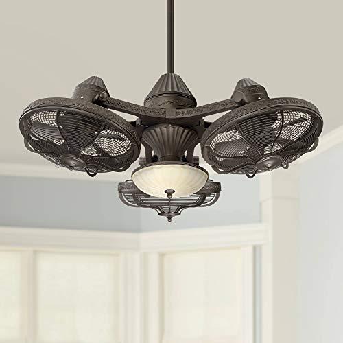 "38"" Esquire Solid Bronze 3-Head LED Ceiling Fan - Casa Vieja"