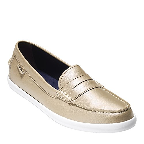Cole Haan Womens Nantucket Mocassino Ii Morbido Oro Metallizzato