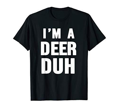 Easy Halloween Deer Costume Shirt for Men Women Kids -
