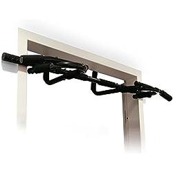 Klarfit barra per trazioni pull up bar a porta multifunzione fitness montaggio (150 KG, 6 maniglie, Acciaio)