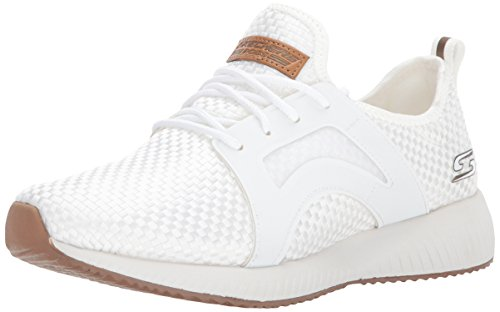 BOBS from Skechers Women's Bobs Sport-Insta Cool Fashion Sneaker, White, 9 M US