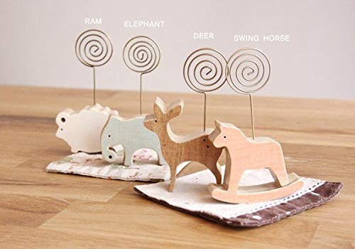 Clip Holder & Clip Dispenser | Wholesale New Arrival Fashion Cute Fun Creative Retro Wooden Cartoon Animals Paperclip.Message Clip.Carousel Wood Clip.Paper Cl | by KAIZOO by KAIZOO