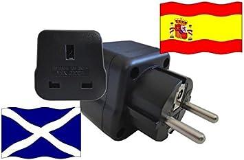 Adaptador de Viaje para España y Escocia ES/GB Enchufe de Viaje ...