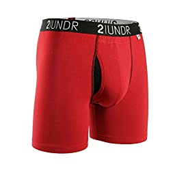 2Undr Men\'s Swing Shift Boxer Brief, Red/Red, XX-Large