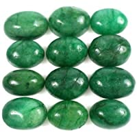 100% Natural Verde Esmeralda 100 Ct - 12 Piezas La mejor calidad Oval Cabujón Verde Esmeralda piedras preciosas sueltas…