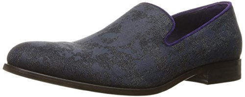 Robert Graham Mens Principe Slip-on Mocassino In Denim Blu Scuro