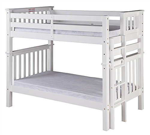 Santa Fe Ladder - Camaflexi Santa Fe Mission Tall Bunk Bed End Ladder, Twin over Twin, White