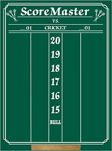 Scoremaster Chalk Dart Scoreboard (medium size) Cricket & 01 Games by Scoremaster Dart Scoreboards