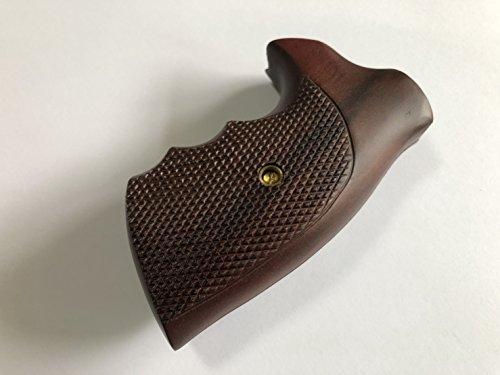 Feelsogood New Wooden Grip For Colt D Frame Short Butt Revolver Detective  Special, Diamond Back Police Positive, Agent, Viper, Post 1966 Checkered  Hardwood ...
