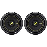 (2) KICKER 44CWCD84 CompC 8 800w Dual 4-Ohm Car Audio Subwoofers Subs CWCD84