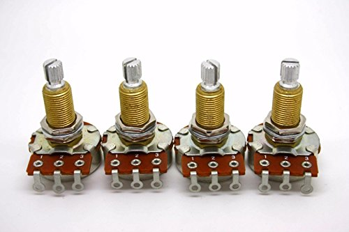 it Shaft Audio Taper Low Friction Potentiometers Set of Four (4X) ()