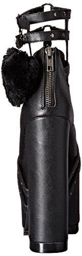 Demonia Donna Cra05 / Bvl Stivaletto Nero Vegan Leather