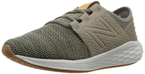 New Balance Boys' Cruz V2 Fresh Foam Running Shoe, Military Foliage Green, 4 W US Big Kid