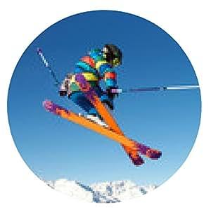 alfombrilla de ratón El salto del esquiador joven - ronda - 20cm