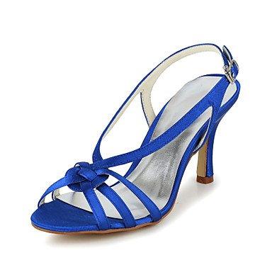 Blue Spring 5 Wedding Gold Beige Summer 8 US9 Evening amp;Amp; UK7 Silver Satin CN42 Party 5 EU41 Fall Stiletto Heel Women'S Slingback RTRY Purple 10 BOwOF
