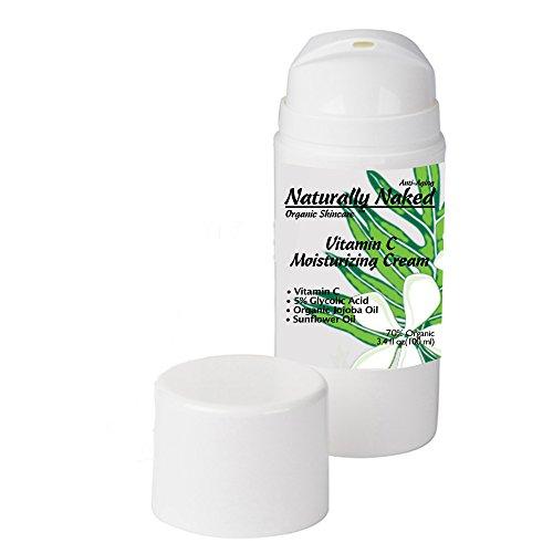 Vitamin C Moisturizing Cream 3.4 oz (100 ml), Removes Sun / Age Spots, Tighten Skin, Hyperpigmentation, Discoloration, Brighten Dull Skin, Wrinkles, Kosher Certified Materials