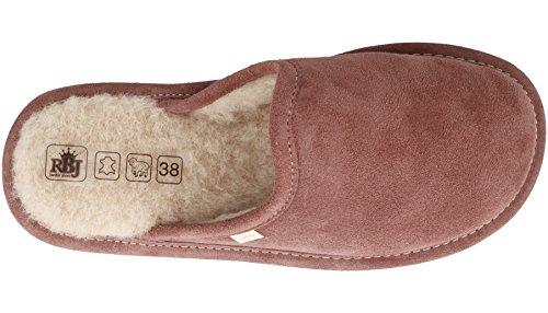 Femme dans Chaussons facultatif RBJ shoes Cadeau pour Naturelle d'agneau et leather Une Laine en Rose boîte Peau IwwBqPCx