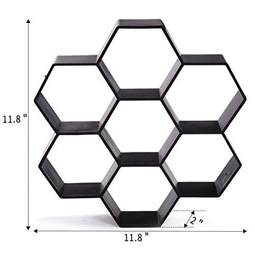 Cheap  Unique Hexagon Design Paving Pavement Mold Patio Concrete Stepping Stone Path Walk..