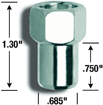 Gorilla Automotive 73087 Standard Mag Open End Lug Nuts 1//2-Inch Thread Size