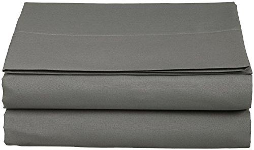 Clara Clark Supreme 1800 Collection Single Flat Sheet, Queen, Charcoal Stone Gray