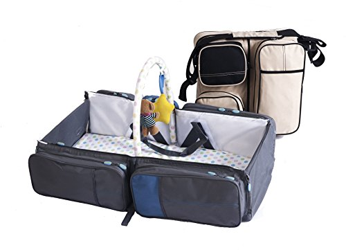 845d37a832bd Amazon.com   Baby Travel Bed and Magical Baby Bag- 9 in 1 Multifunctional Baby  Travel Bed Cot Baby Bassinet and Diaper Bag (Khaki Black)SALE!!   Baby