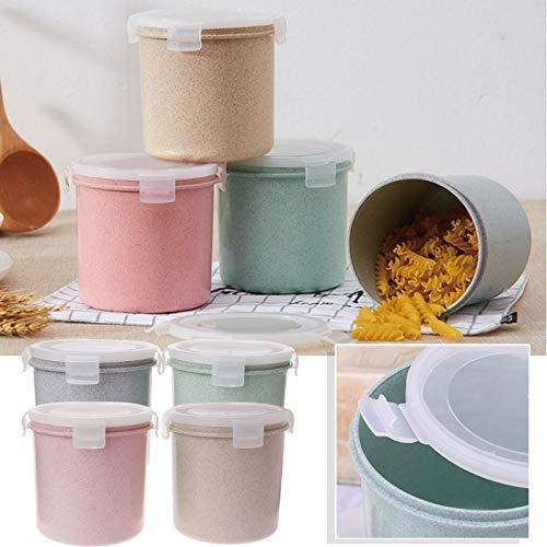 Fresco Grasses - Let's dream Cylinder Kitchen Storage Box Seal Food Preservation Plastic Fresh Pot Container