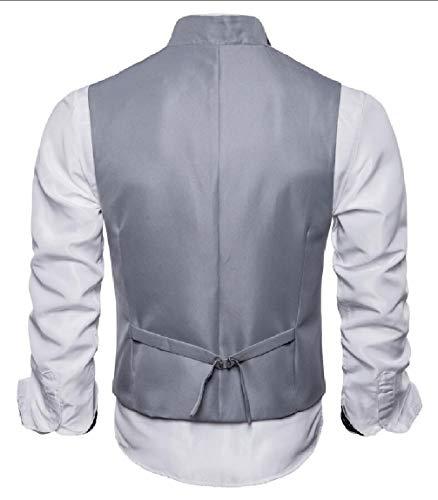Gilet En Couches Hommes Maweisong Amincissent Veste Formelle V Cou Costume Robe De Gilet D'affaires 2