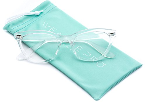 Super Fashion Vintage Womens Cat Eye glasses Clear Lens - Frame Plastic Eyeglasses Clear