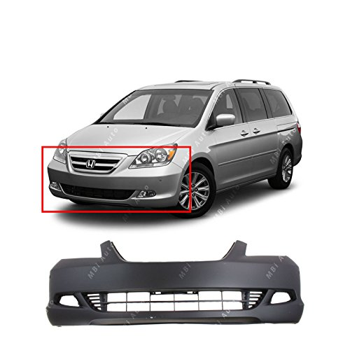 MBI AUTO Primered, Front Bumper Cover Fascia for 2005 2006 2007 Honda Odyssey Touring 05 06 07, HO1000223 ()