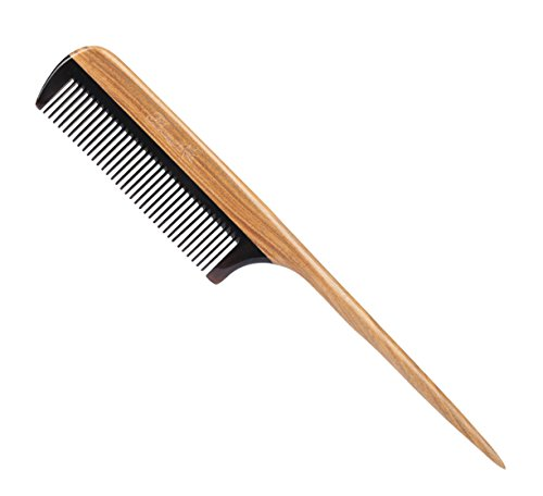 Breezelike Hair Combs - Fine Tooth Sandalwood Horn Comb - No Static Wooden Tail Comb for Women