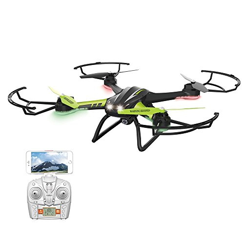 Sainsmart Jr. TK 108H Quadcopter RC Drone with WIFI Live Video 720 HD Camera, 2.4 Ghz Remote Control with LED Night Sight by SainSmart Jr.