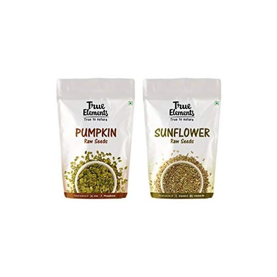 True Elements Raw Pumpkin Seeds 150g and Raw Sunflower Seeds 150g Combo, 300g