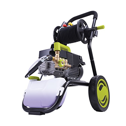 Sun Joe SPX9009-PRO 2.41 HP 1800 PSI 1.6 GPM Commercial Pressure Washer with Roll Cage and Hose Reel (Best Gas Pressure Washer 2019)