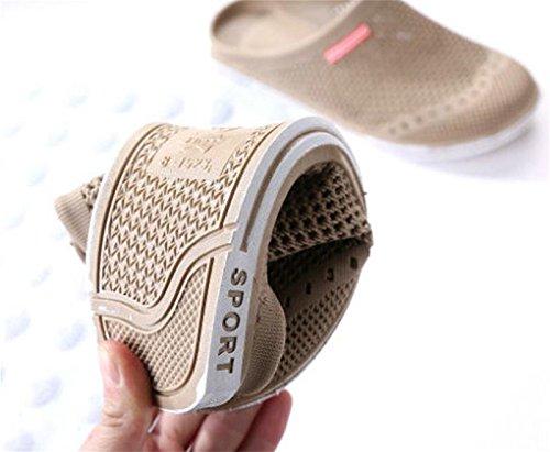 Sandali Slip Confortevole Scarpe Scivolo Pantofole Khaki Flip Spiaggia Scarpa Uomo W On 43 Doccia Gomma Anti Flop Casual 44 amp;xy q4fnwF