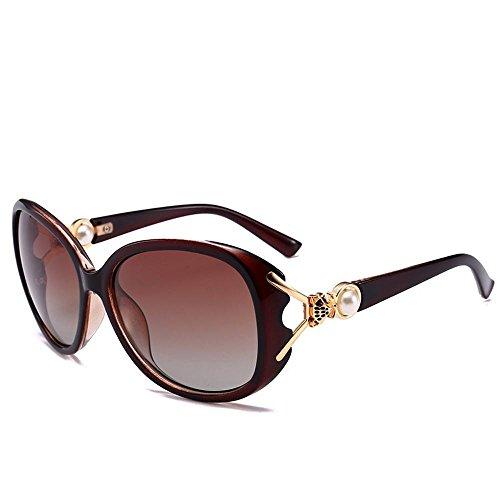 03a0d19007 Durable Modelando Aoligei Señora de tendencia ronda polarizado gafas de sol  grandes marco ANTI-UV