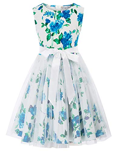Danna Belle Girls Princess Kids Prom Ball Gowns Wedding Party Flower Dresses 9Y DB42-2