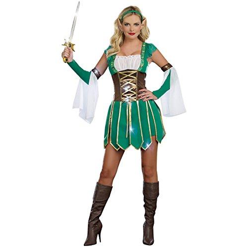 [Warrior Elf Costume - X-Large - Dress Size 14-16] (Womens Elf Warrior Costume)