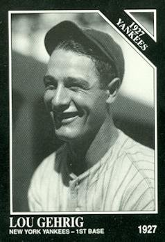 Lou Gehrig Baseball Card (New York Yankees) 1991 Sporting News Conlon Collection #111 (Lou Gehrig New York Yankees)