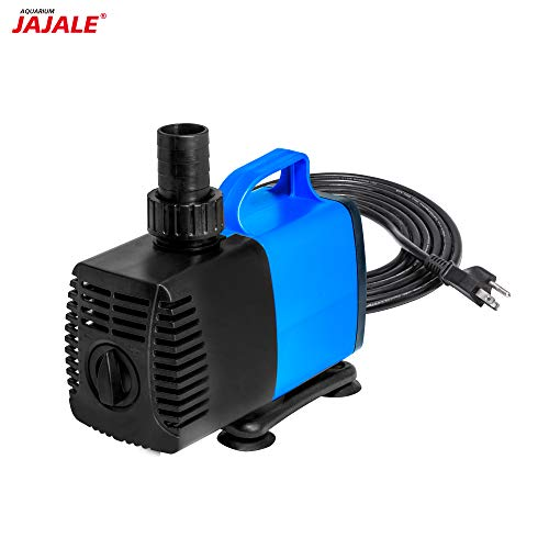 JAJALE 1980 GPH Submersible Water Pump Ultra Quiet for Pond,Aquarium,Fish Tank,Fountain,Hydroponics