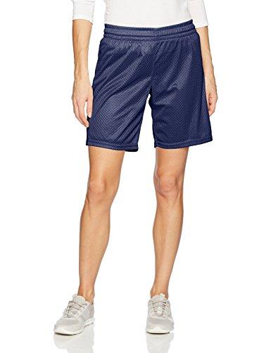 Ladies Mesh Shorts - Intensity Women's Pe Cut Eyelet Mesh Shorts, Navy, X-Large